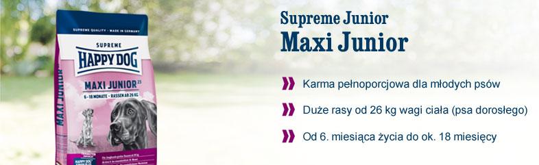 maxi junior happy dog 6 18 miesi cy 15 kg. Black Bedroom Furniture Sets. Home Design Ideas