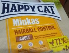 HAPPY CAT Minkas z Drobiem Hairball Control 500 g
